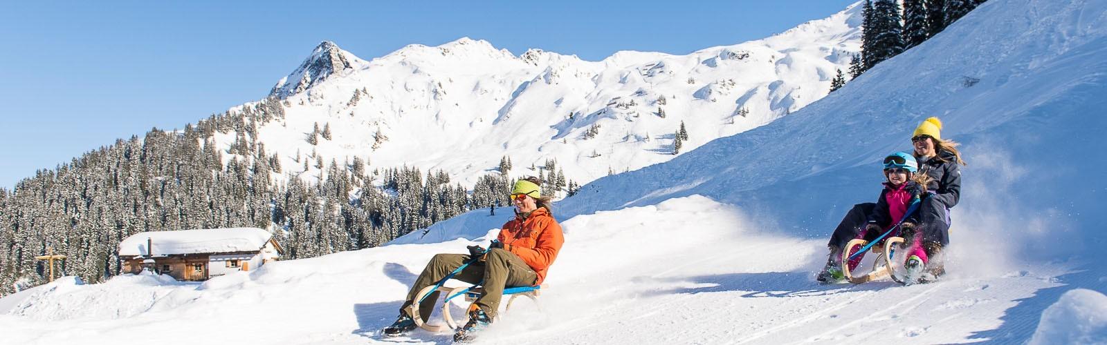 Sport Milanovic - Schlitten fahren am Arlberg